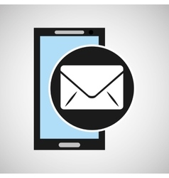 social media mobile app email icon vector image