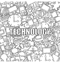 Technology background with media vector image