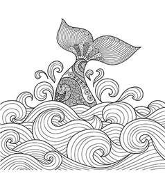 Whale tale coloring vector