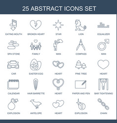 25 abstract icons vector