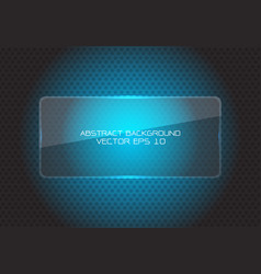 abstract blue glass banner circle mesh modern vector image