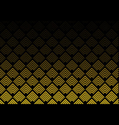 abstract gold color chevron lines pattern on vector image