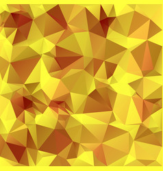 Abstract polygon square background yellow ochre vector
