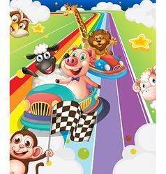 Animals racing vector