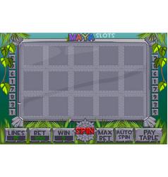 Aztec slots complete menu graphical vector
