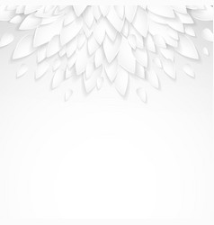 Background with paper plastic white leaves vector