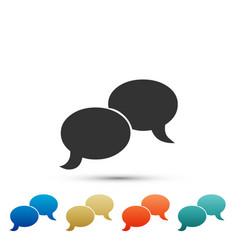 blank speech bubbles icon on white background vector image