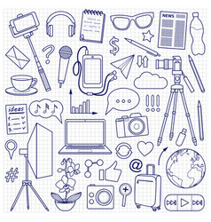 Blog object set vector