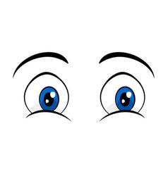 Blue eyes comic cartoon design isolated on white vector