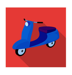 blue two wheeled scooter transport for moving vector image
