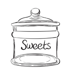 Candy jar vector