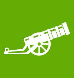 Cannon icon green vector
