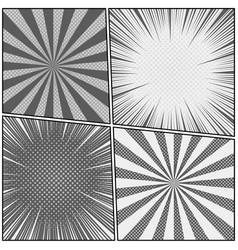 comic book monochrome templates set vector image