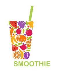 conceptual symbol a smoothie vector image