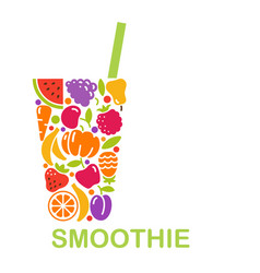 Conceptual symbol of a smoothie vector