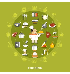 Cooking Icons Circle Collection vector