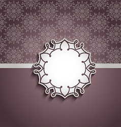 Decorative background with blank label vector