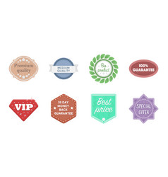 different label icons in set collection for design vector image