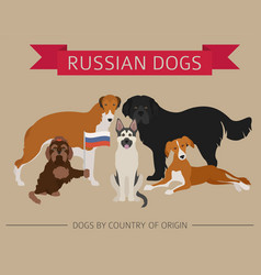 Dogs by country of origin russian dog breeds vector