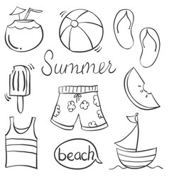 Doodle of summer hand draw vector