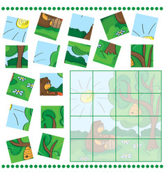 education puzzle game for children vector image