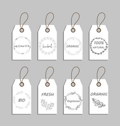 elements collection for food market labels vector image