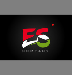 Es e s alphabet letter logo combination icon vector