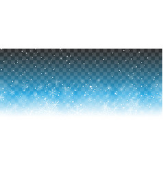 falling snow horizontal pattern vector image