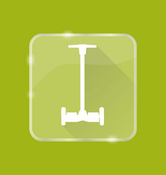 flat style self-balancing scooter silhouette icon vector image