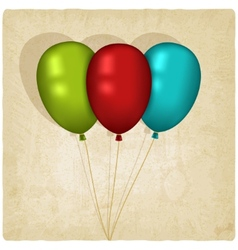 Flying balloon old background vector