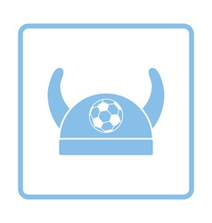 Football fans horned hat icon vector