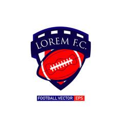 football logo template design vector image
