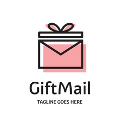 gift mail logo vector image