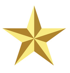 gold star icon on white background flat vector image