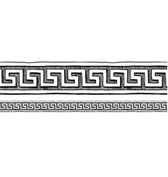 greek meander border ornaments vector image