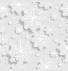Grey and white abstract paper snowflakes vector