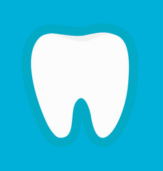 healthy white tooth silhouette icon oral dental vector image