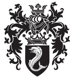 heraldic silhouette no3 vector image