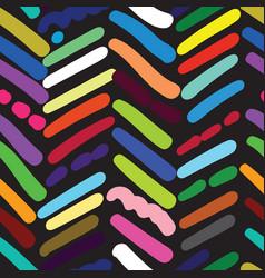 herringbone textured seamless pattern with random vector image