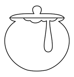 Honey pot icon outline style vector
