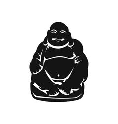 Hotei or Budai Japanese Netsuke icon vector image