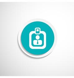 Identification card icon profile search vector