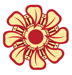 isolated asian style flower image vector image