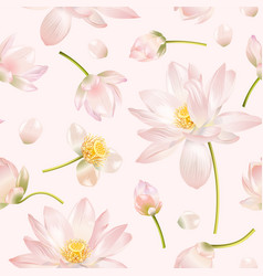 lotus flower pattern vector image