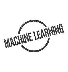 machine learning stamp vector image