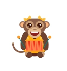 Monkey animal fun character vector image