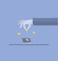 online business concept business vector image