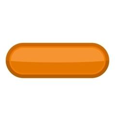 Orange rectangle button icon cartoon style vector