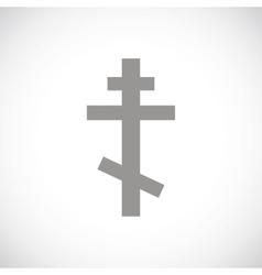 Orthodoxy black icon vector