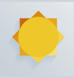 paper sun whith shadow background vector image vector image
